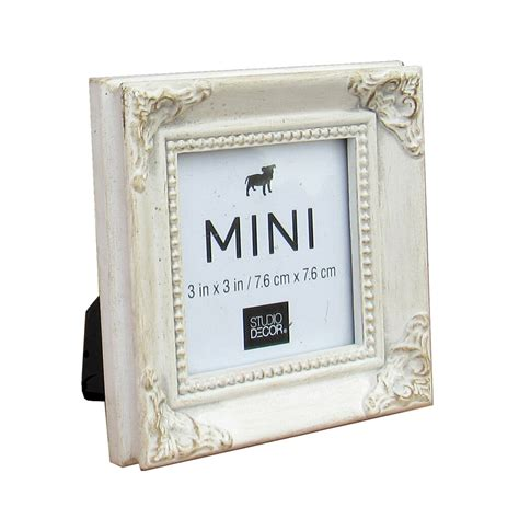 Find the White Leaf Mini Frame with Corner Accents by