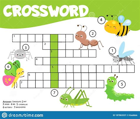 Insects Crossword For Kids And Toddlers