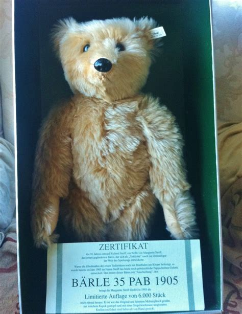 Steiff 404207 Bear Barle 1905 Replica Limited Edition with
