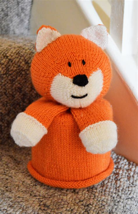 Fox Toilet Roll Cover Knitting Pattern – Knitting by Post