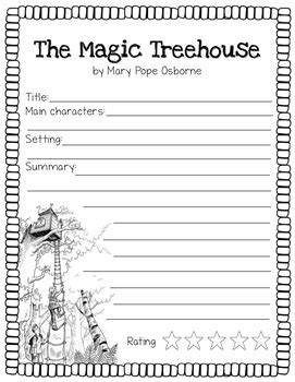 The Magic Treehouse Book Reports- 3 Versions by Easy Peasy