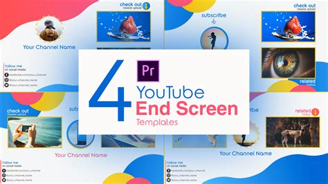 youtube end screen premiere pro template pack 01 free