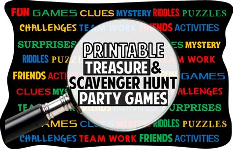 Rhyming Treasure Hunt Riddles With Answers - Scavenger