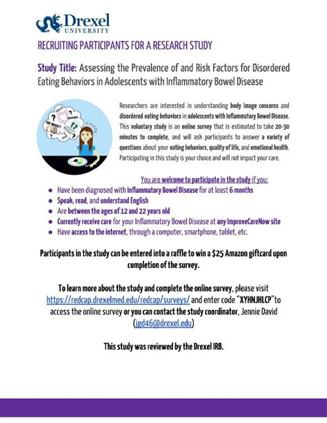 Opportunity - Recruiting Participants for a Research Study