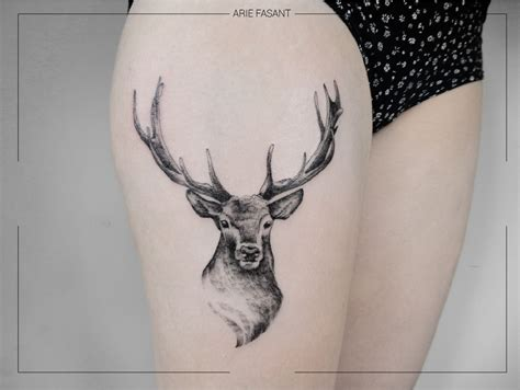 Ink by Arie Fasant | Stag tattoo, Deer tattoo designs
