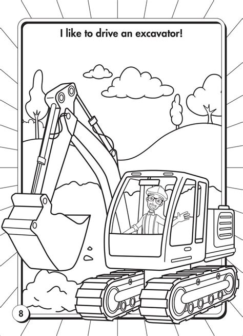 Blippi Coloring Pages   Coloring Pages Library