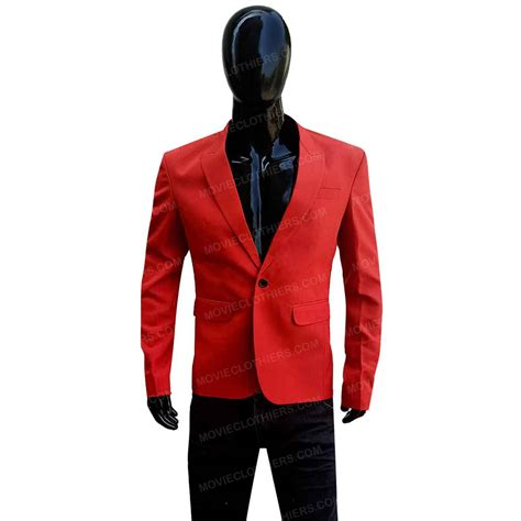 The Weeknd Red Suit | Blinding Lights Blazer Outfit