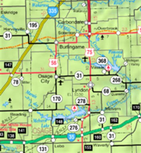 Osage County, Kansas Bicycle Guide