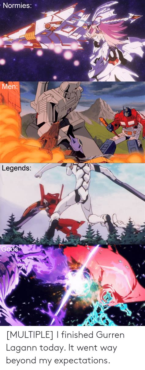 MULTIPLE I Finished Gurren Lagann Today It Went Way Beyond