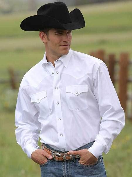 Miller Ranch DTW2201034 Men's Long Sleeve Solid White Snap
