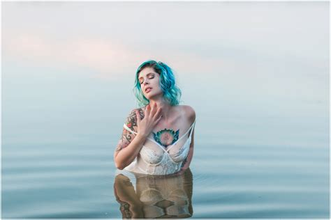 Tattoos and Blue hair | Outdoor Boudoir Session | Iowa