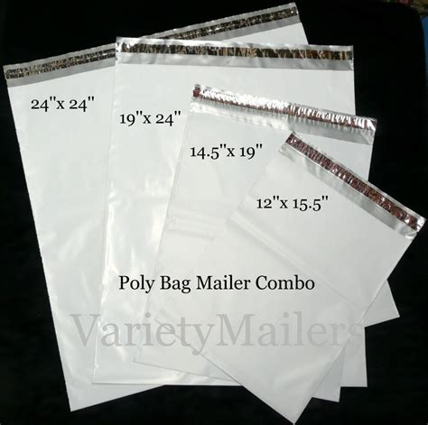 20 POLY BAG MAILER VARIETY PACK ~ FOUR LARGE SIZES ~ FREE