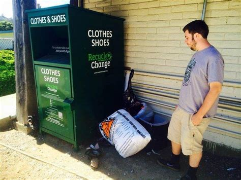 Community complaining about used clothing bins – The