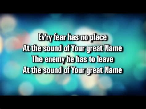 Your Great Name   WorshipTeam