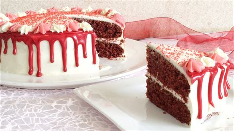 Red Velvet Cake with Cream Cheese Frosting |Red drip cake