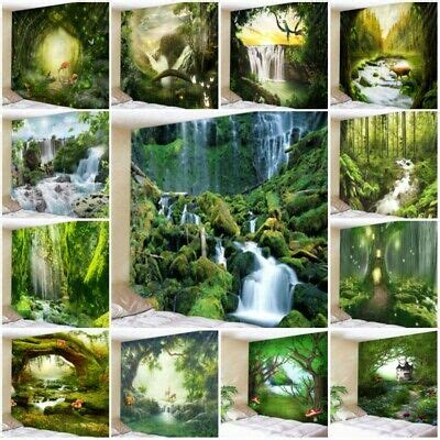 Fantasy Forest Scenery Waterfall Tapestry Wall Hanging